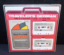 VTG 1980 German Travelers German Language Cassettes & Vest Pocket German SEALED