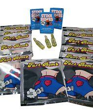 SMELLY PRANK KIT - Fart Stink Bombs Nasty Gross Smelling Gag Trick Joke