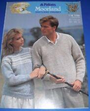 Patons Adult's Sweaters Knitting Pattern 7755