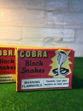 VINTAGE TOY COBRA BLACK SNAKES IN ORIGINAL BOXES GRAPHICS ARE BEAUTIFUL!!