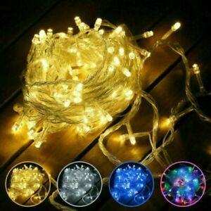 1-10m 10-100 LED Guirlande Lumineuse à Piles Lumière Féérique Fête Noël Décor