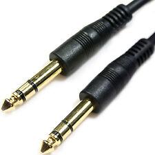 """10m 6.35mm estéreo macho a macho Cable de Guitarra - 1/4 """"instrumento Audio Jack Plug de plomo"""