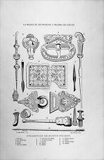 COLLECTION de BIJOUX FRANCS - Gravure du 19e siècle