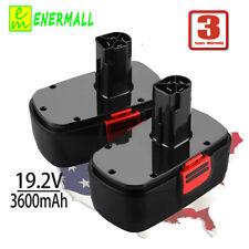 2X 3.6Ah For Craftsman DieHard C3 19.2V Battery Ni-MH 130279003 130279005 11375