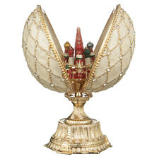 Russian Faberge Egg with Moscow St-Basil's Cathedral 4.8'' (12 cm) cream