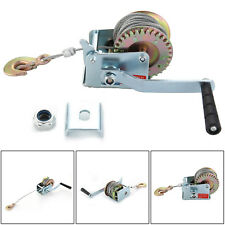 600LB MANUAL BOAT MARINE TRAILER HAND POWERED WINCH + 12m WIRE CABLE + HOOK