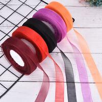 50Yard  20mm Width Organza Satin Ribbon Roll Bow Wedding Party Craft  BH