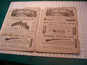 2 Original issues of FOREST & STREAM, ROD & GUN: both 1880 march 4, march 11