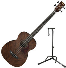 Ibanez PCBE12MH Grand Concert Body Open Pore Nat Acoustic Bass Guitar Bundl