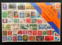 SEALED OLD VINTAGE POSTORAMA SERIES STAMP COLLECTION - CANADA 70 DIFFERENT STAMP