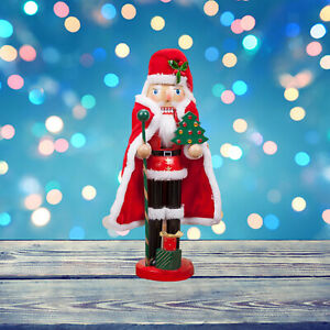 Handpainted Wood Nutcracker Doll New Year Home Décor Xmas Birthday Gifts