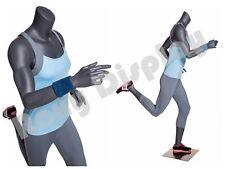 Female Fiberglass Headless Athletic style Mannequin Dress Form Display #Mz-Ni-11