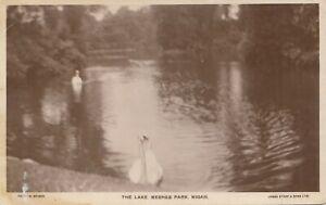 Postcard - Wigan - The Lake. Mesnes Park