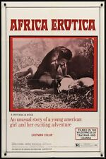 AFRICA EROTICA one sheet movie poster 27x41 SEXPLOITATION BRIGITTE LAHAIE 1970
