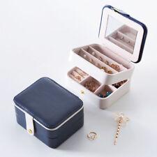 Travel Jewellery Box Case Portable Storage Holder 3 Layers Jewelery Case Mirror