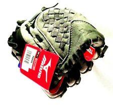 "MIZUNO Power Close 10.5"" Tee Ball Youth Gray Black Glove TEE55 Max Flex Mitt 7-9"