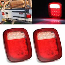 2X Square Stop Turn Tail backup 16LED Marker Light for Jeep Wrangler JK TJ CJ YJ
