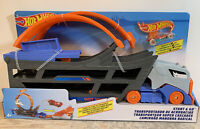 Hot Wheels Playset Stunt n' Go Track Set Loop Launcher & Storage Cars New In Box