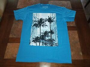Turquoise Waterfalls, Palm Trees, Ocean, Tropical Scene, Men's T-Shirt