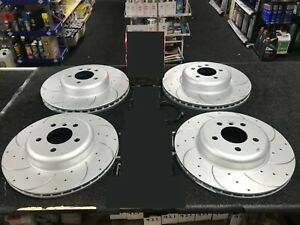 BMW M135I F20 DRILLED GROOVED BRAKE DISCS FRONT REAR 340+345