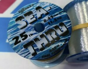 DRENNAN SEA THRU Line 11.3kg 425m 25LB FISHING BULK SPOOL CLEAR LOOK BEST