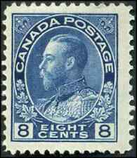 Canada #115 mint F-VF OG H 1925 King George V 8c blue Admiral CV$40.00