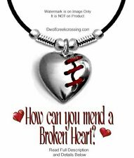"""MEND A BROKEN HEART NECKLACE 24"""" LEATHER LOST LOVE BROKEN HEARTED FREE SHIP SmH*"""