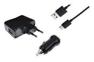 Set Typ C USB Ladekabel für Samsung Adapter Stecker Netzteil KFZ Ladegerät Kabel