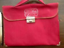 Vtg 40s Tiny Handbag Bag Purse Vegan Metal Corner Satin Pencil Bag Kit 8x6""