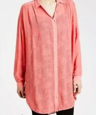 Ghost Estelle Camomile Tunic Blouse Blush New With Tags Size M Rrp £195.00