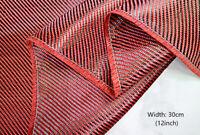 3K 200gsm Red Kevlar Carbon Fiber Fabric Twill Weave Aramid Carbon Mix 30cm 1m