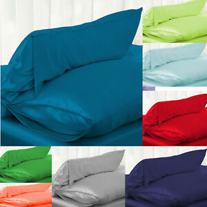 Silk Satin Pillow Case Silky Breathable Queen Colors Soft bedding 48*74cm-1pcs