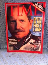 "NOS TIME MAGAZINE 3/5/01 ""DEATH IN THE FAST LANE DALE EARNHARDT 1951 - 2001"""