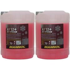 4x 10 litro Mannol anticongelante af 12 -40°c rojo