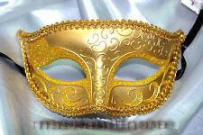 Riviera Gold Masquerade Mask for Men A-0960G-E