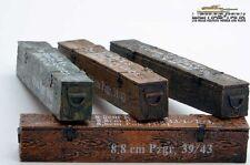 4 X Boîte Munitions Multicolore 8.8cm Kw. K.43 pour Diorama 1:16 Résine Émaillé
