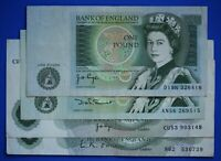 4 Bank of England One pound, O'Brien Page Somerset Series C & D £1 notes [21291]