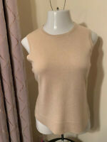 Ann Taylor Beige 100% Cashmere Sleeveless Top, Sweater, Women's Large