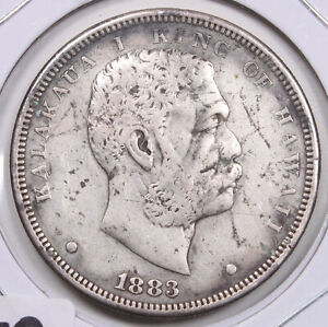 Kingdom of Hawaii 1883 One Dollar Nice Original T59