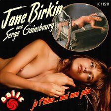 "7"" JANE BIRKIN avec SERGE GAINSBOURG Je t'aime..moi non plus ANTIC UK-Press 1974"