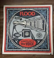 Shepard Fairey Obey Giant X Flood Art Print Poster Signed XX/300 Save Our Stage