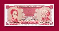BEAUTIFUL Cinco 5 Bolivares 1989 UNC South America Note (P70a) VERY COLLECTIBLE