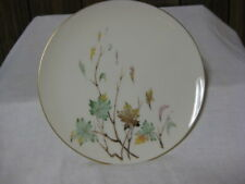 "4 Lenox USA Westwind Dinner Plates 10 3/8"" Green Brown Yellow Leaves"
