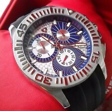 Mint Swiss Legend Quartz Sapphire Chrono Watch with Rubber Strap and Box