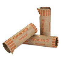 Coin-Tainer Preformed Tubular Coin Wrappers Quarters $10 1000 Wrappers/Box 20025