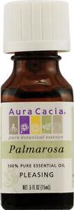 Palmarosa Essential Oil by Aura Cacia, 0.5 oz