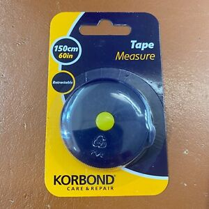 Korbond Retractable Tape Measure 150cm/60inch Ideal for Tailoring & Dressmaking