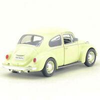 Vintage VW Beetle 1967 1/36 Model Car Metal Diecast Gift Toy Vehicle Kids Beige
