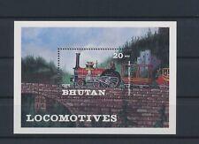 LO03596 Bhutan railroads locomotives trains good sheet MNH
