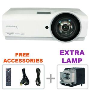 REFURBISHED - Promethean PRM-45 DLP Projector Home Theater w/bundle + EXTRA LAMP